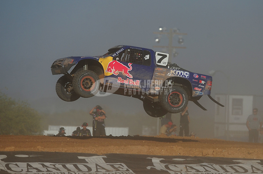 Apr 16, 2011; Surprise, AZ USA; LOORRS driver Bryce Menzies (7) during round 3 at Speedworld Off Road Park. Mandatory Credit: Mark J. Rebilas-
