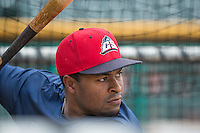 Chris Nelson (15) of the Colorado Springs Sky Sox before the game against the Salt Lake Bees in Pacific Coast League action at Smith's Ballpark on May 22, 2015 in Salt Lake City, Utah.  (Stephen Smith/Four Seam Images)