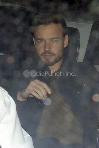 Liam Payne is pictured arriving at Annabels Club for Drake's Scorpion Release Party in London.<br />