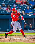 28 February 2017: Washington Nationals outfielder Rafael Bautista in action during the Spring Training inaugural game against the Houston Astros at the Ballpark of the Palm Beaches in West Palm Beach, Florida. The Nationals defeated the Astros 4-3 in Grapefruit League play. Mandatory Credit: Ed Wolfstein Photo *** RAW (NEF) Image File Available ***