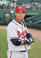 Gregor Blanco of the Richmond Braves vs. the Rochester Red Wingss:  May 31st, 2007 at Frontier Field in Rochester, NY. Photo By Mike Janes/Four Seam Images