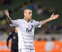 CARSON, CA - March 17, 2012: Vancouver Whitecaps FC forward Eric Hassli (29) during the Chivas USA vs Vancouver Whitecaps FC match at the Home Depot Center in Carson, California. Final score Vancouver Whitecaps 1, Chivas USA 0.