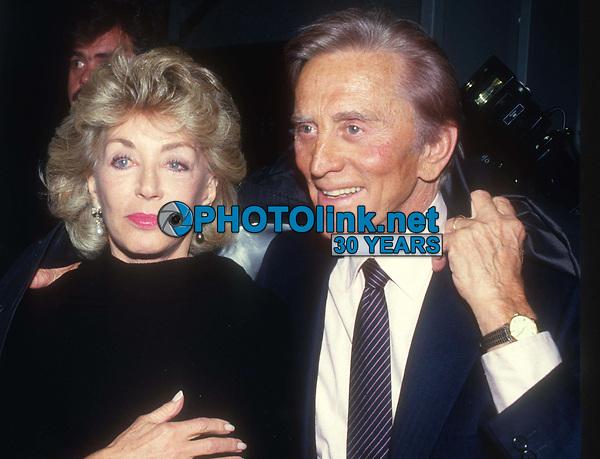 Kirk Douglas and wife Anne 1981<br /> Photo By John Barrett/PHOTOlink.