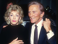 Kirk Douglas and wife Anne 1981<br /> Photo By John Barrett/PHOTOlink.