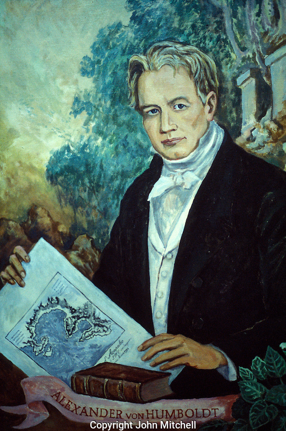 Portrait of German explorer Alexander Von Humboldt in the Casa Humboldt, Taxco, Guerrero, Mexico
