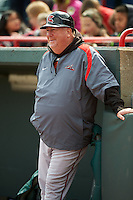 Richmond Flying Squirrels hitting coach Ken Joyce (47) before a game against the Erie Seawolves on May 20, 2015 at Jerry Uht Park in Erie, Pennsylvania.  Erie defeated Richmond 5-2.  (Mike Janes/Four Seam Images)