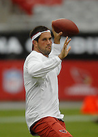 Aug 18, 2007; Glendale, AZ, USA; Arizona Cardinals quarterback (7) Matt Leinart warms up prior to the game against the Houston Texans at University of Phoenix Stadium. Mandatory Credit: Mark J. Rebilas-US PRESSWIRE Copyright © 2007 Mark J. Rebilas