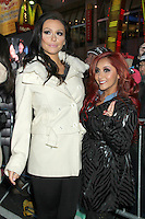 NEW YORK, NY DECEMBER 31: Jenni 'JWoww' Farley and Nicole 'Snooki' Polizzi at New Year's Eve 2013 in Times Square in New York City. December 31, 2012. New York City. Credit: RW/MediaPunch Inc.