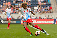 Bridgeview, IL - Saturday July 22, 2017: Casey Short during a regular season National Women's Soccer League (NWSL) match between the Chicago Red Stars and the Orlando Pride at Toyota Park. The Red Stars won 2-1.
