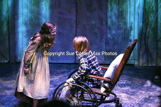 "Charlie Plummer ""Colin"" and Isabella Convertino (daughter of Liz Keifer) stars as Mary Lennox as Philipstown Depot Theatre presents The Secret Garden on November 7, 2009 in Garrison, New York. It runs Oct. 23 until Nov 15, 2009. The musical The Secret Garden is the story of ""Mary Lennox"", a rich spoiled child who finds herself suddenly an orphan when cholera wipes out the entire Indian village where she was living with her parents. She is sent to live in England with her only surviving relative, an uncle who has lived an unhappy life since the death of his wife 10 years ago. ""Archibald's son Colin"", has been ignored by his father who sees Colin only as the cause of his wife's death.This is essentially the story of three lost, unhappy souls who, together, learn how to live again while bringing Colin's mother's garden back to life. (Photo by Sue Coflin/Max Photos)...."