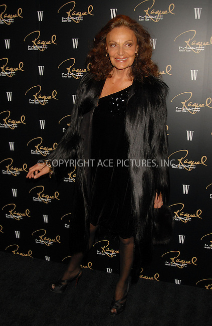 WWW.ACEPIXS.COM . . . . . ....January 17, 2007, New York City.....Diane Von Furstenburg attends the MAC Cosmetics celebration to honor Raquel Welch as a Beauty Icon at Gilt the New York Palace Hotel.....Please byline: KRISTIN CALLAHAN - ACEPIXS.COM.. . . . . . ..Ace Pictures, Inc:  ..(212) 243-8787 or (646) 679 0430..e-mail: picturedesk@acepixs.com..web: http://www.acepixs.com