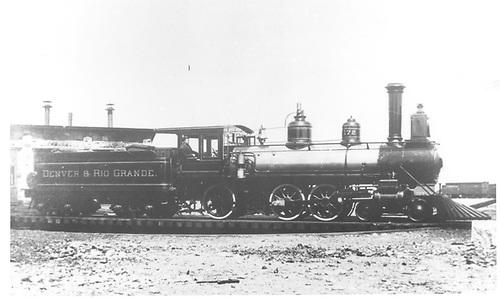 Engine #172 on Gunnison turntable.<br /> D&amp;RG  Gunnison, CO  1883