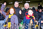 Lauren, Denis, Donal and Cian Tucker (Killarney) Dr Crokes fans pictured at the All Ireland semi-final in Portlaoise on Saturday.