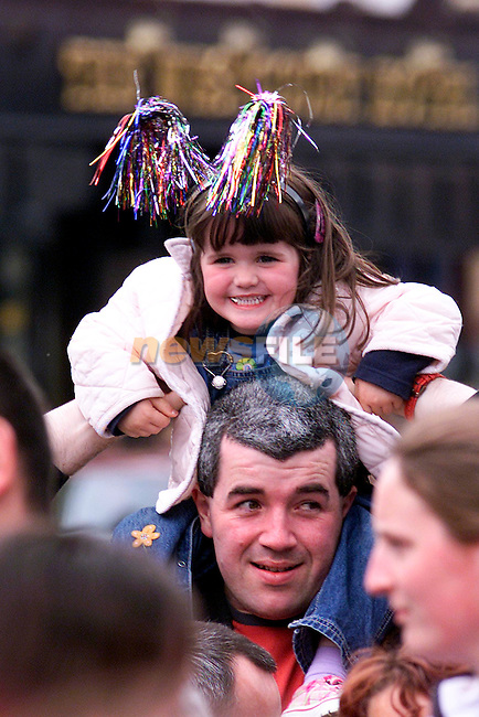 Kieran Gallagher with his niece Ellen Gallaghe at the launch of the Samba Festival on Friday..Picture: Paul Mohan/Newsfile