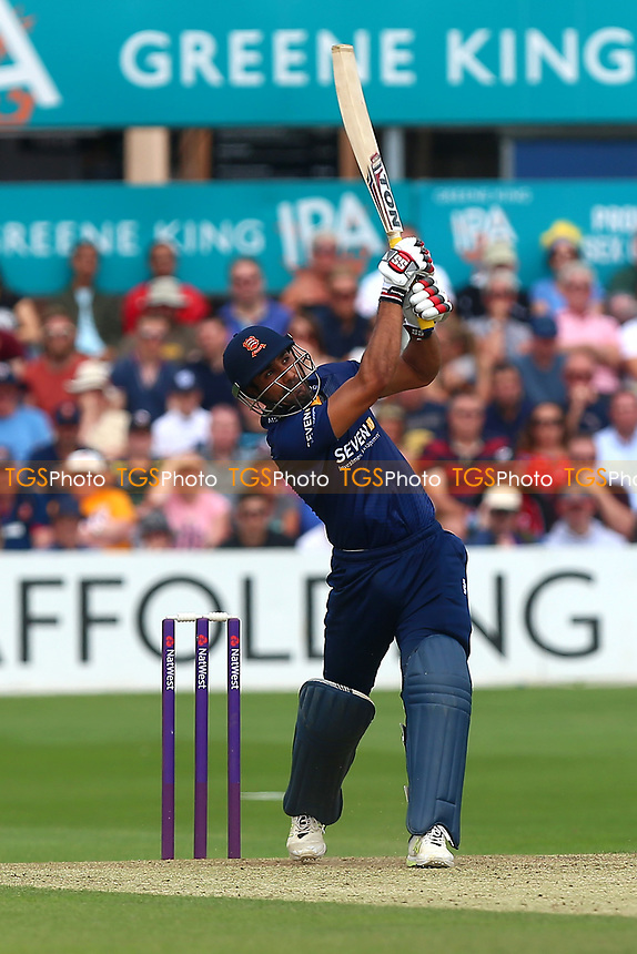 Ravi Bopara hits six runs for Essex during Essex Eagles vs Glamorgan, NatWest T20 Blast Cricket at The Cloudfm County Ground on 16th July 2017