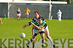 Ardfert's Jonathan Best and John Mitchels B Costello..   Copyright Kerry's Eye 2008