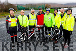 Maurice Hanafin, Michael O'Callaghan, Paul Byrne, George Poff, Michael Ryle, James O'Connell, Kevin Quirke and Martina Hanafin ready for road the 6th annual Jimmy Duffy Memorial Cycle in Blennerville on Saturday.