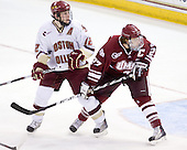 Ben Smith (BC - 12), Justin Braun (UMass - 27) - The Boston College Eagles defeated the University of Massachusetts-Amherst Minutemen 5-2 on Saturday, March 13, 2010, at Conte Forum in Chestnut Hill, Massachusetts, to sweep their Hockey East Quarterfinals matchup.