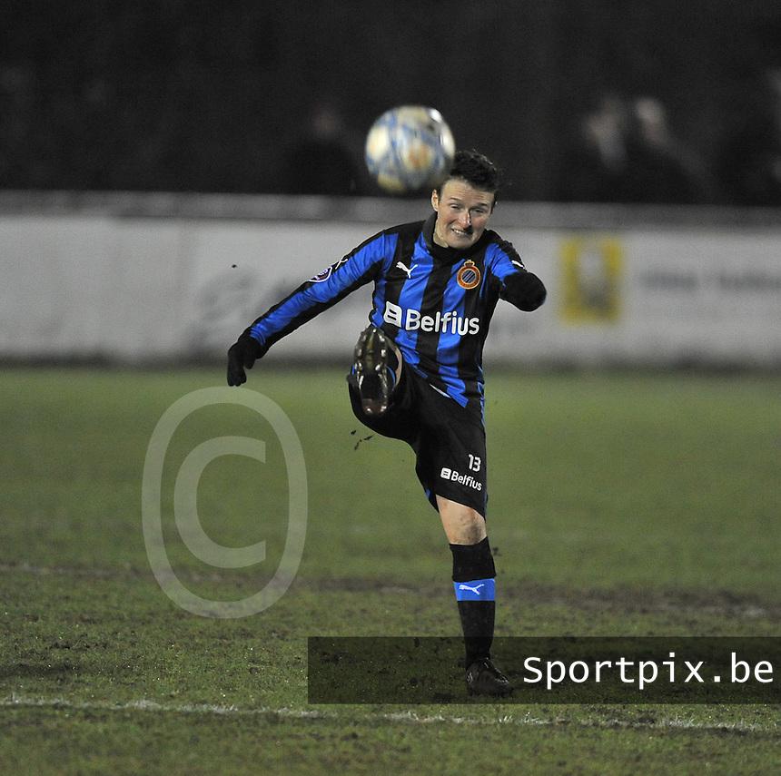 Club Brugge Dames - WB Sinaai Girls : Christine Saelens.foto DAVID CATRY / Vrouwenteam.be