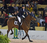 WELLINGTION, FL - FEBRUARY 09: SATURDAY NIGHT LIGHTS: Jessica Rae Springsteen seen happy and spiritual with her horse before she participates in Class 101 - FEI CSI5* $391,000 Fidelity Investments Grand Prix where the winner was Martin Fuchs (Swiss) second place was Kent Farrington (USA) and third was Conor Swail (IRE). The Winter Equestrian Festival (WEF) is the largest, longest running hunter/jumper equestrian event in the world held at the Palm Beach International Equestrian Center. Jessica Rae Springsteen (born December 30, 1991) is an American show jumping champion rider who has represented the United States in the Show Jumping World Cup and the 2012 FEI Nations Cup.Jessica is the second child and only daughter of Bruce Springsteen and Patti Scialfa on February 09, 2019  in Wellington, Florida.<br /> People:  Jessica Rae Springsteen <br /> CAP/MPI122<br /> &copy;MPI122/Capital Pictures