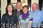 Eileen and Niall Roche with Helen and Dave Geaney pictured as they enjoyed the Beaufiort Gun Club social in Skinny Ryans, Beaufort, on Saturday night.
