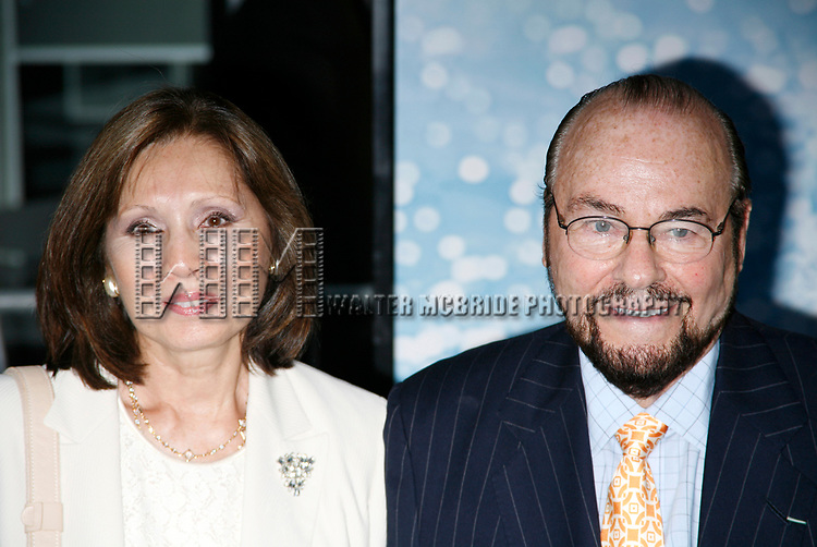 James Lipton & wife arriving for the American Premiere of MAMMA MIA! The Movie at the Ziegfeld Theatre in New York City.<br />July 16, 2008