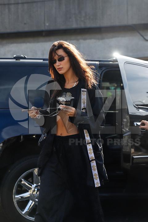 NOVA YORK, EUA, 08.11.2018 - VICTORIA-SECRET - A modelo Bella Hadid chega para o desfile da Victoria Secret que acontece hoje quinta-feira, 08 em Nova York nos Estados Unidos. (Foto: Vanessa Carvalho/Brazil Photo Press)