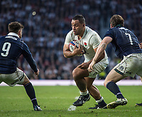 Twickenham, United Kingdom. Billy VUNIPOLA, breaks of the back of the scrum to attack the Scotland try Line. during the Six Nations International Rugby, Calcutta Cup Game, England vs Scotland, RFU Stadium, Twickenham, England, <br /> <br /> Saturday  11/03/2017<br /> <br /> [Mandatory Credit; Peter Spurrier/Intersport-images]
