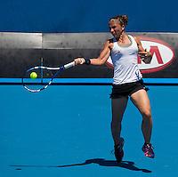 SARA ERRANI (ITA )against JIE ZHENG (CHN) in the fourth round of the Women's Singles. Sara Errani beat  Jie Zheng 6-2 6-1..23/01/2012, 23rd January 2012, 23.01.2012 - Day 8..The Australian Open, Melbourne Park, Melbourne,Victoria, Australia.@AMN IMAGES, Frey, Advantage Media Network, 30, Cleveland Street, London, W1T 4JD .Tel - +44 208 947 0100..email - mfrey@advantagemedianet.com..www.amnimages.photoshelter.com.