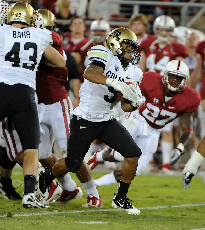 RODNEY STEWART, of the Colorado Buffaloes, in action during Colorado's game against the Stanford Cardinal on October 8, 2011 at Stanford Stadium in Stanford, CA. Stanford beat Colorado 48-7.