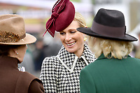 11/03/2020 - Camilla Duchess of Cornwall with Princess Anne and Zara Tindall Phillips during the Cheltenham Fest. Photo Credit: ALPR/AdMedia