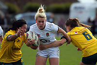 Megan Jones in action during the 2017 International Women's Rugby Series rugby match between England Roses and Australia Wallaroos at Porirua Park in Wellington, New Zealand on Friday, 9 June 2017. Photo: Dave Lintott / lintottphoto.co.nz