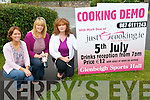 Kerry Chef, Mark Doe, will be on hand with tasty dishes at this week's Just Cooking Cookery Demo to raise funds for Glenbeigh Sportshall. .L-R Muireann O'Donovan, Tracey Garcia and Jackie O'Connor.