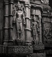 Temple carving outside the Kamakshi temple, popular with the tantrics, in Assam, India