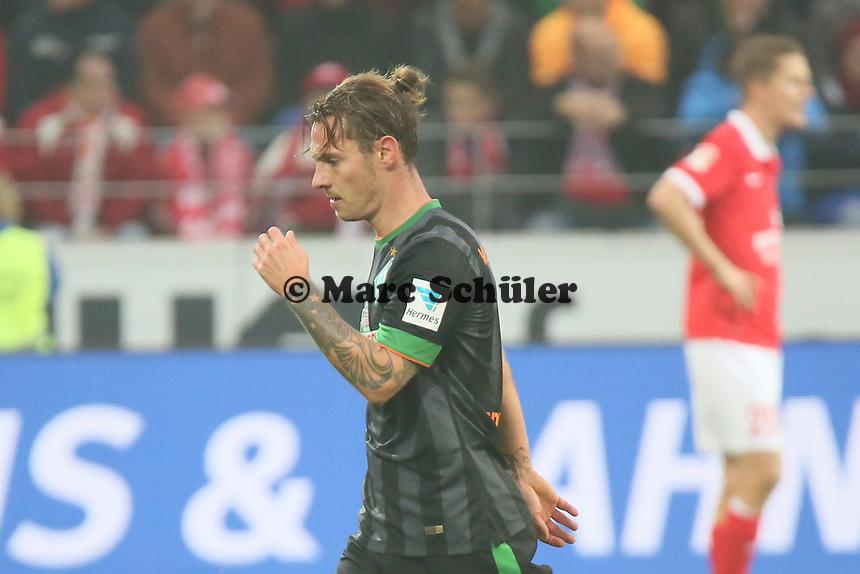 Ludovic Obraniak (Werder) wird ausgewechselt - 1. FSV Mainz 05 vs. SV Werder Bremenl, Coface Arena