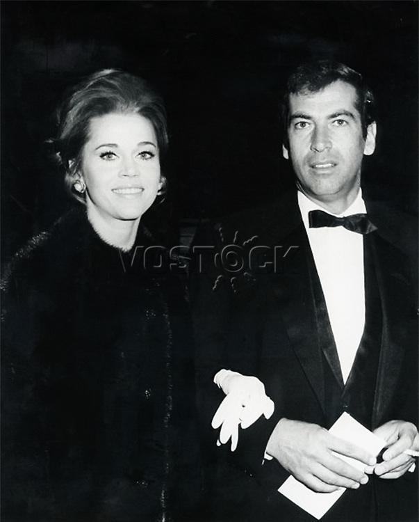 Jane Fonda with husband Roger Vadim, circa 1966.