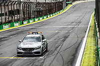 14th November 2019, Autodromo Jose Carlos,Pace, Sao Paolo, Brazil; F1 Grand Prix of Brazil, Driver arrival and Press conference;  medical car takes laps at Sao Paulo track