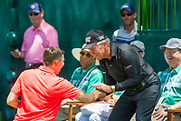 Matthew Fitzpatrick (ENG) and Gary Player (RSA) during the first round at the Nedbank Golf Challenge hosted by Gary Player,  Gary Player country Club, Sun City, Rustenburg, South Africa. 14/11/2019 <br /> Picture: Golffile | Tyrone Winfield<br /> <br /> <br /> All photo usage must carry mandatory copyright credit (© Golffile | Tyrone Winfield)