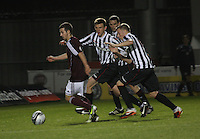 Jason Holt being pursued in the St Mirren v Heart of Midlothian Clydesdale Bank Scottish Premier League U20 match played at St Mirren Park, Paisley on 6.11.12...