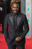 London, UK. 14 February 2016. Actor Idris Elba. Red carpet arrivals for the 69th EE British Academy Film Awards, BAFTAs, at the Royal Opera House. © Vibrant Pictures/Alamy Live News