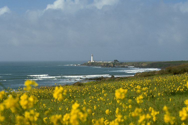 CA: Pigeon Point, California, lighthouse 2005 .Image: capigeon111.Photo Copyright: Lee Foster, lee@fostertravel.com, www.fostertravel.com, (510) 549-2202..