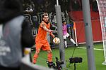 08.11.2018, BayArena, Leverkusen, Europaleque, Vorrunde, GER, UEFA EL, Bayer 04 Leverkusen (GER) vs. FC Zuerich (SUI),<br />  <br /> DFL regulations prohibit any use of photographs as image sequences and/or quasi-video<br /> <br /> im Bild / picture shows: <br /> Lukas Hradecky Torwart (Leverkusen #1), holt den Ball hinter dem Tor <br /> <br /> Foto &copy; nordphoto / Meuter<br /> <br /> <br /> <br /> Foto &copy; nordphoto / Meuter