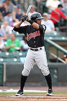Indianapolis Indians shortstop Argenis Diaz during a game vs. the Rochester Red Wings at Frontier Field in Rochester, New York;  July 17, 2010.   Indianapolis defeated Rochester 10-7.  Photo By Mike Janes/Four Seam Images