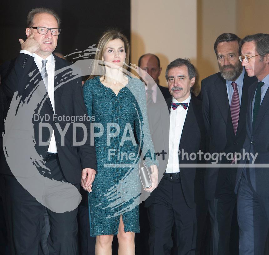 Queen of Spain Letizia Ortiz opens the KUNST Museum from Basilea exhibition at Reina Sofia Museum ( Queen Sofia Museum) in Madrid on March 17, 2015. Photo by Eduardo Dieguez/ DyD Fotografos-DYDPPA