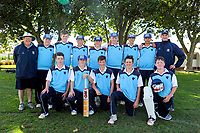 The King's High School team pose for a group photo during the 2018 Junior NZ Secondary School Cricket Boys' Tournament Finals match between Wellington College and King's High School at Manawaroa Park in Palmerston North, New Zealand on Friday, 23 March 2018.. Photo: Dave Lintott / lintottphoto.co.nz
