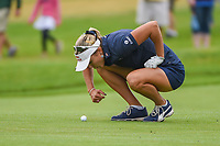 Lexi Thompson (USA) looks over her ball before her second shot on 3 during round 4 of the KPMG Women's PGA Championship, Hazeltine National, Chaska, Minnesota, USA. 6/23/2019.<br /> Picture: Golffile | Ken Murray<br /> <br /> <br /> All photo usage must carry mandatory copyright credit (© Golffile | Ken Murray)
