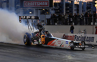 "Jan 20, 2007; Las Vegas, NV, USA; NHRA Top Fuel driver Bob Vandergriff during preseason testing at ""The Strip"" at Las Vegas Motor Speedway in Las Vegas, NV. Mandatory Credit: Mark J. Rebilas"