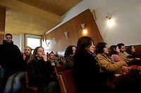 Assemblea cittadina sui temi della Ricerca Pubblica, della precarieta' e della tutela dell'ambiente presso la sede dell'ISPRA, Istituto Superiore per la Protezione e la Ricerca Ambientale, a Roma, 15 gennaio 2010..UPDATE IMAGES PRESS/Riccardo De Luca