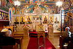 Liturgy service at St. Sava Orthodox Church, Jackson, Calif., sermon given by Father Stephen Tumbas at the altar
