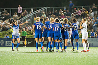 Allston, MA - Wednesday Sept. 07, 2016: Natasha Dowie celebrates scoring during a regular season National Women's Soccer League (NWSL) match between the Boston Breakers and the Western New York Flash at Jordan Field.